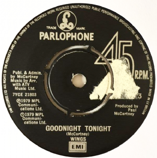 "Wings ‎- Goodnight Tonight (7"") (VG-/NM)"